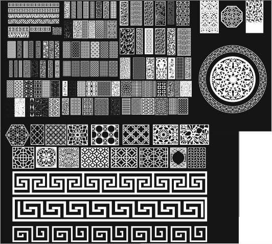 Grill Design Pattern Decoration 11 Free CDR Vectors Art