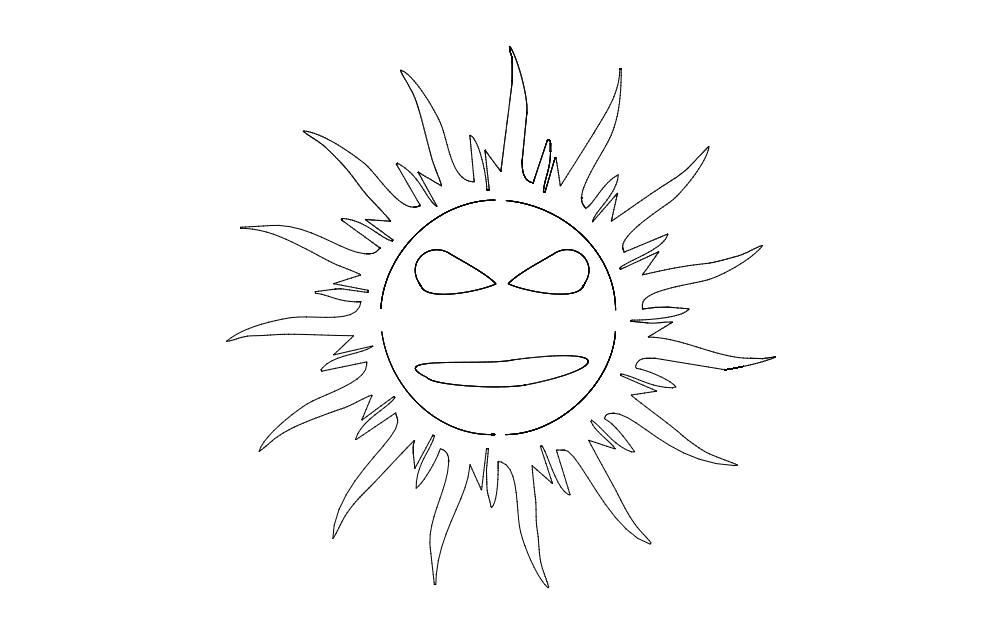 Art Cool Sun Free DXF File