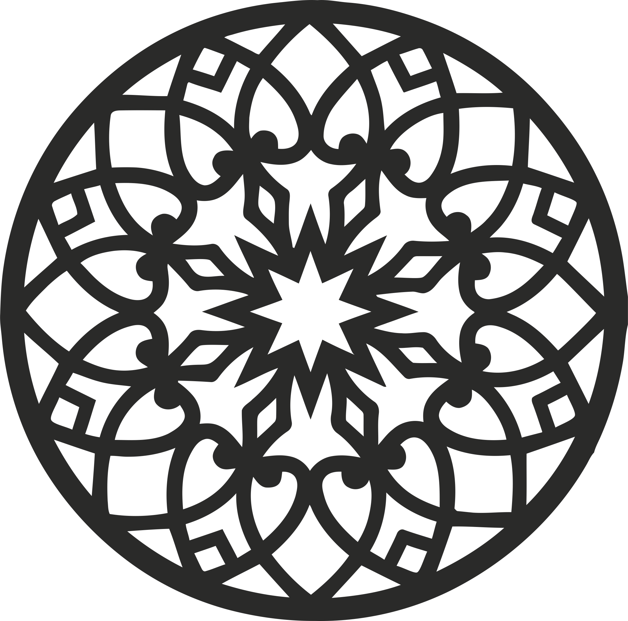 Decorative Round Grille 013 Free DXF File
