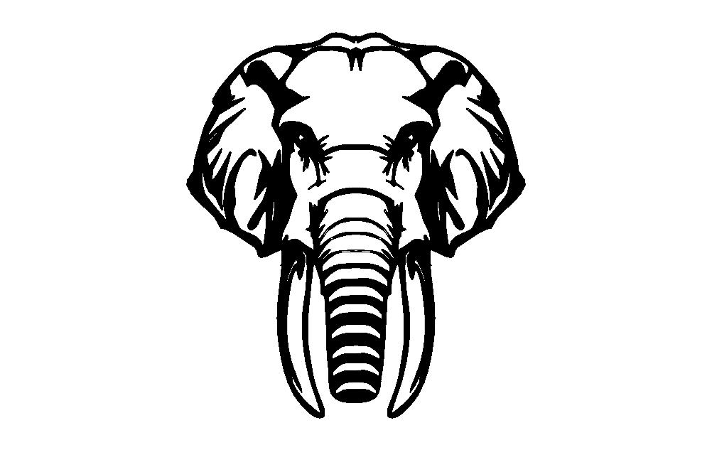 Elephant Free DXF File