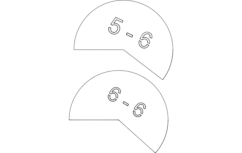 Geodesic Set Angles Outside Free DXF File
