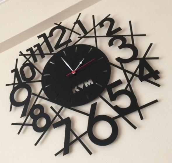 Laser Cutting Wall Clock Km Free DXF File