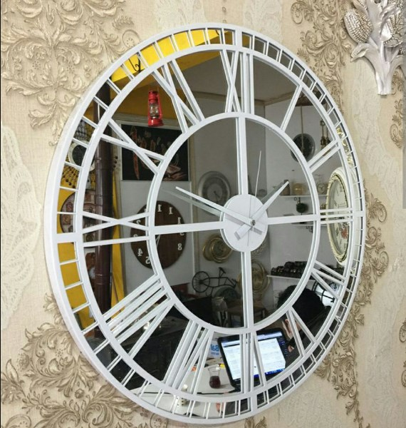 Laser Cutting Wall Clock Shop Free DXF File