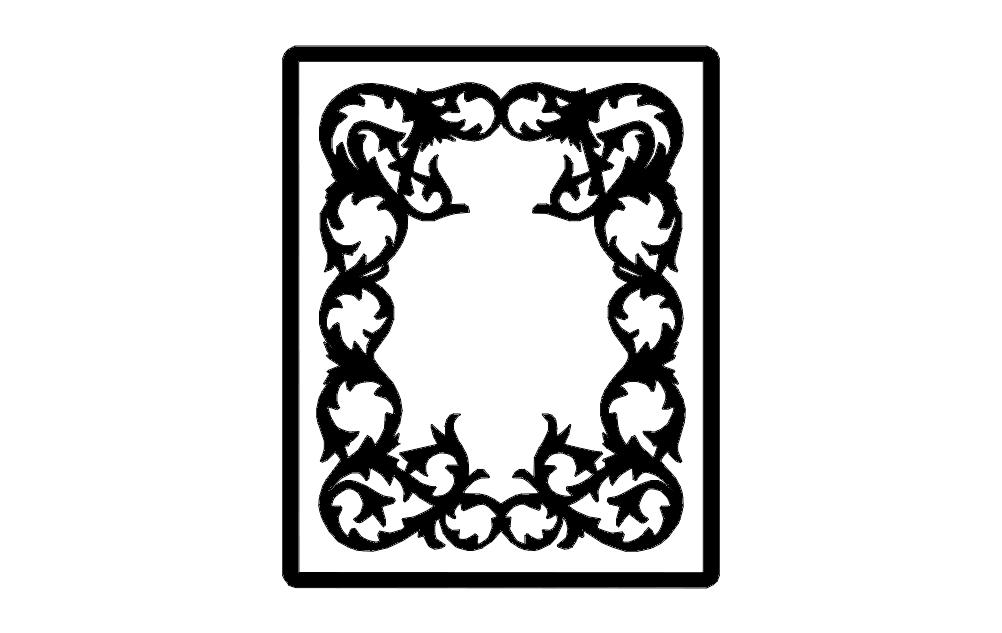 Photo Frame Free DXF File