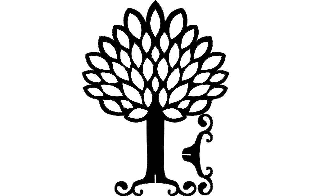 Tree With Stand Free DXF File