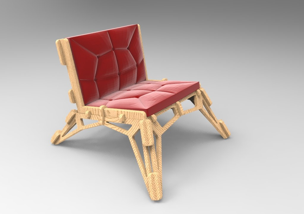 Wooden Cnc Projects Sample Chair Free DXF File