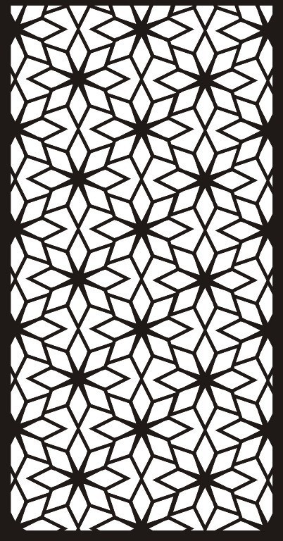 Flower Partition Wall Free CDR Vectors Art