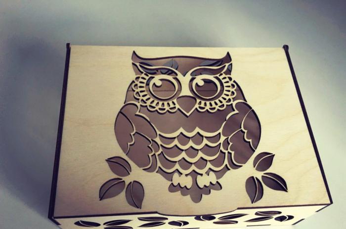 Laser Cut Cnc Project Owl Box Free CDR Vectors Art