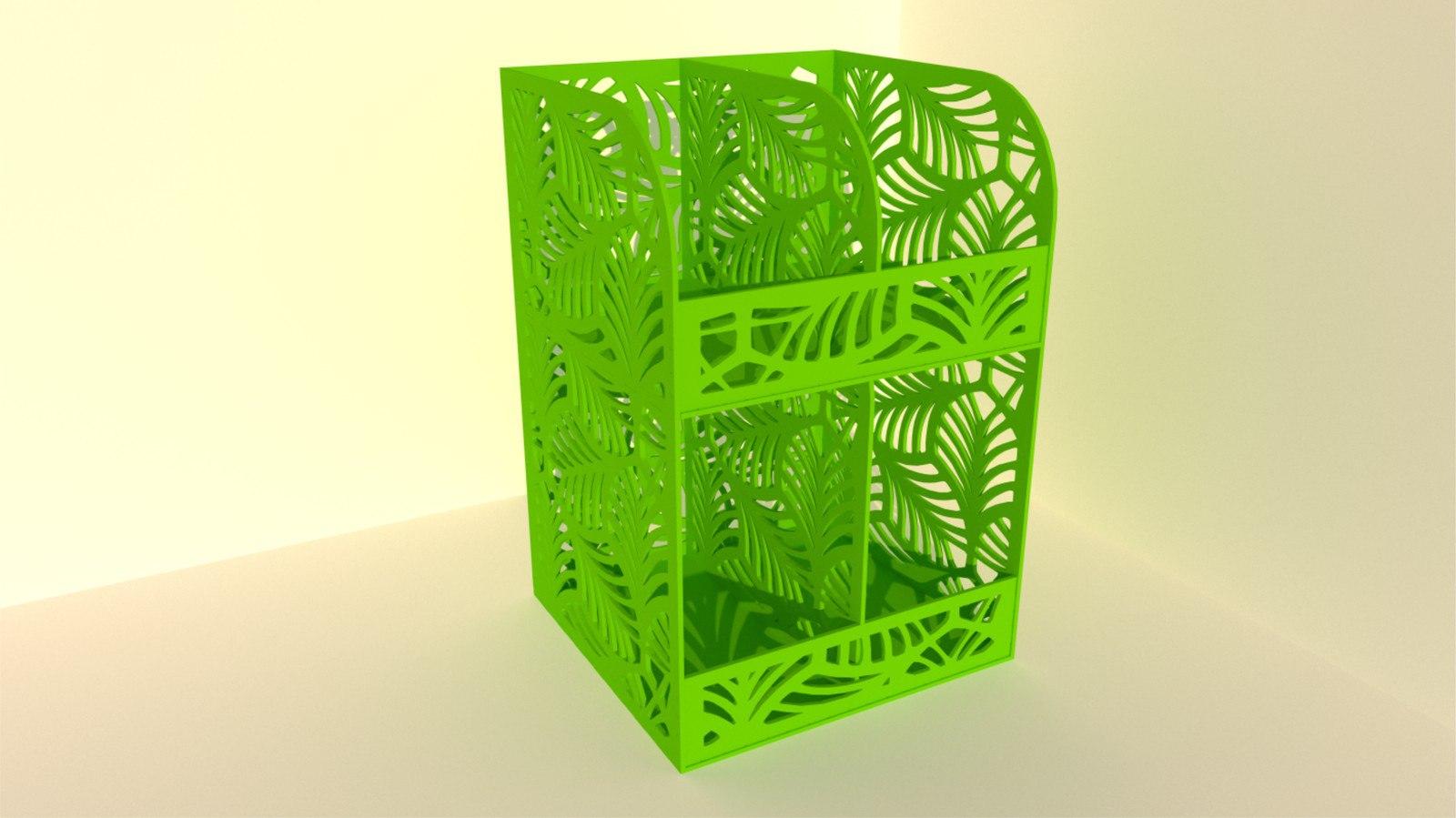 Laser Cut Cnc Project Plastic Storage Free CDR Vectors Art