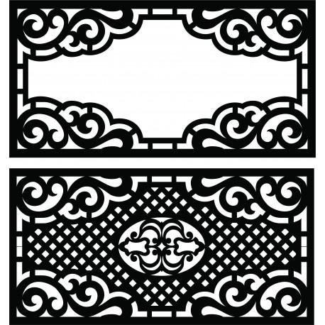 Laser Plasma Router Grille Pattern Design g65 Free DXF File