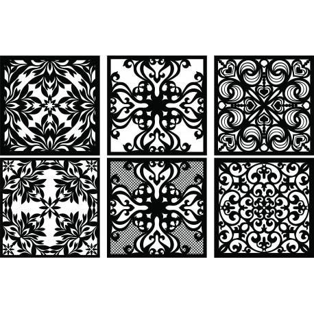 Laser Plasma Router Grille Patterns Design f66 Free DXF File