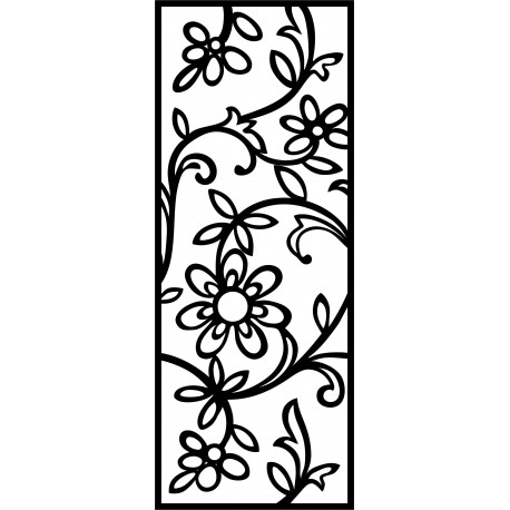Laser Plasma Router Grille Wrought Iron Design f55 Free DXF File
