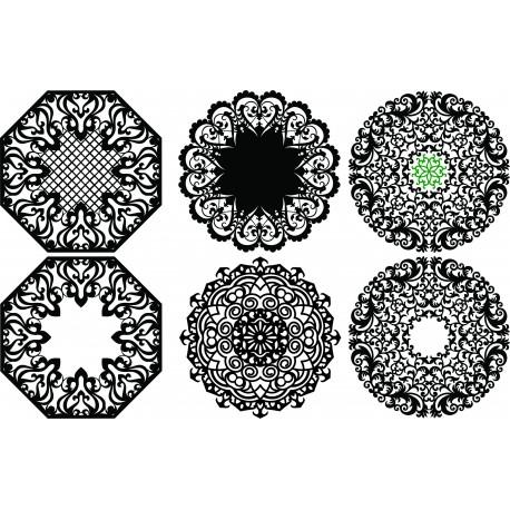 Laser Plasma Router Round Pattern d13 Free DXF File