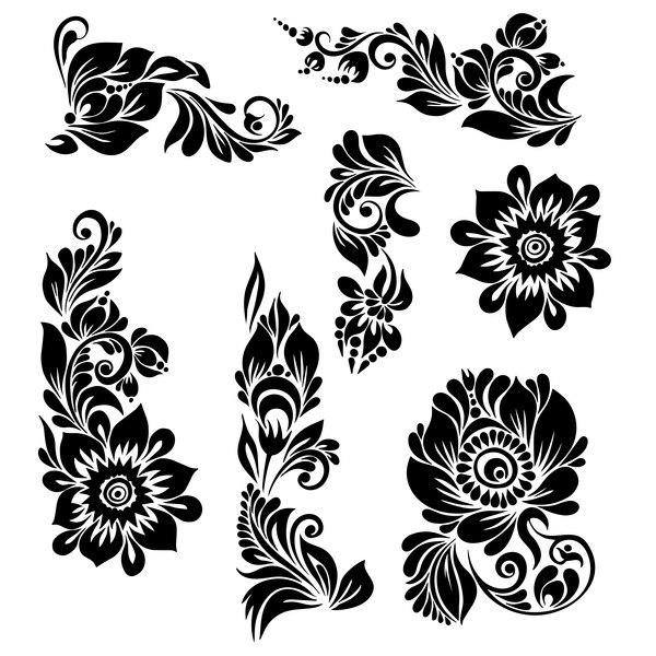 Ornaments Floral Engraving Design Free DXF File