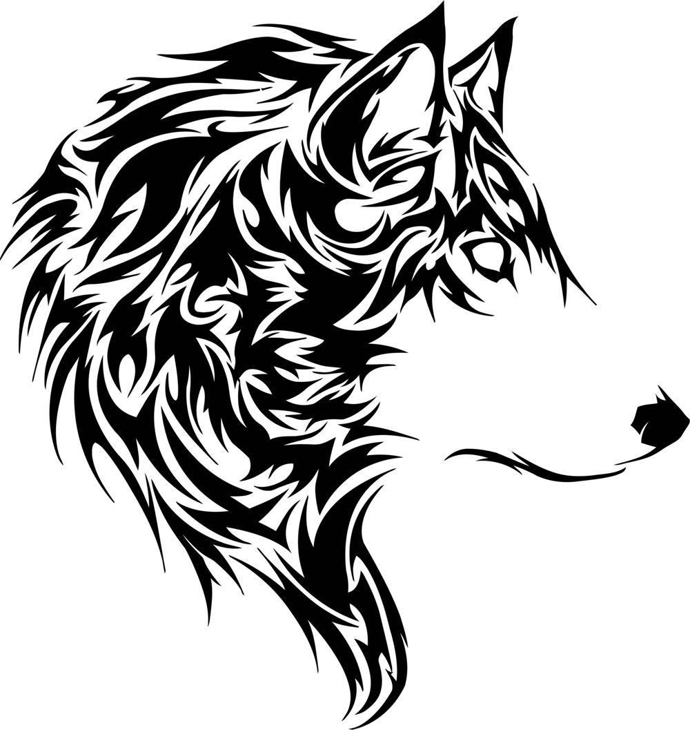 Animal Wolf Stencil Free CDR Vectors Art