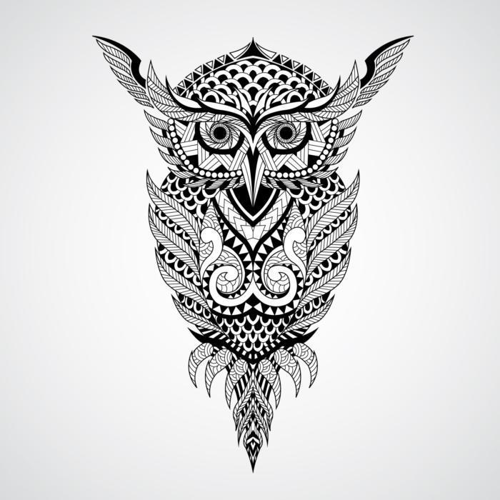 Geometrical Owl Mandala Free CDR Vectors Art