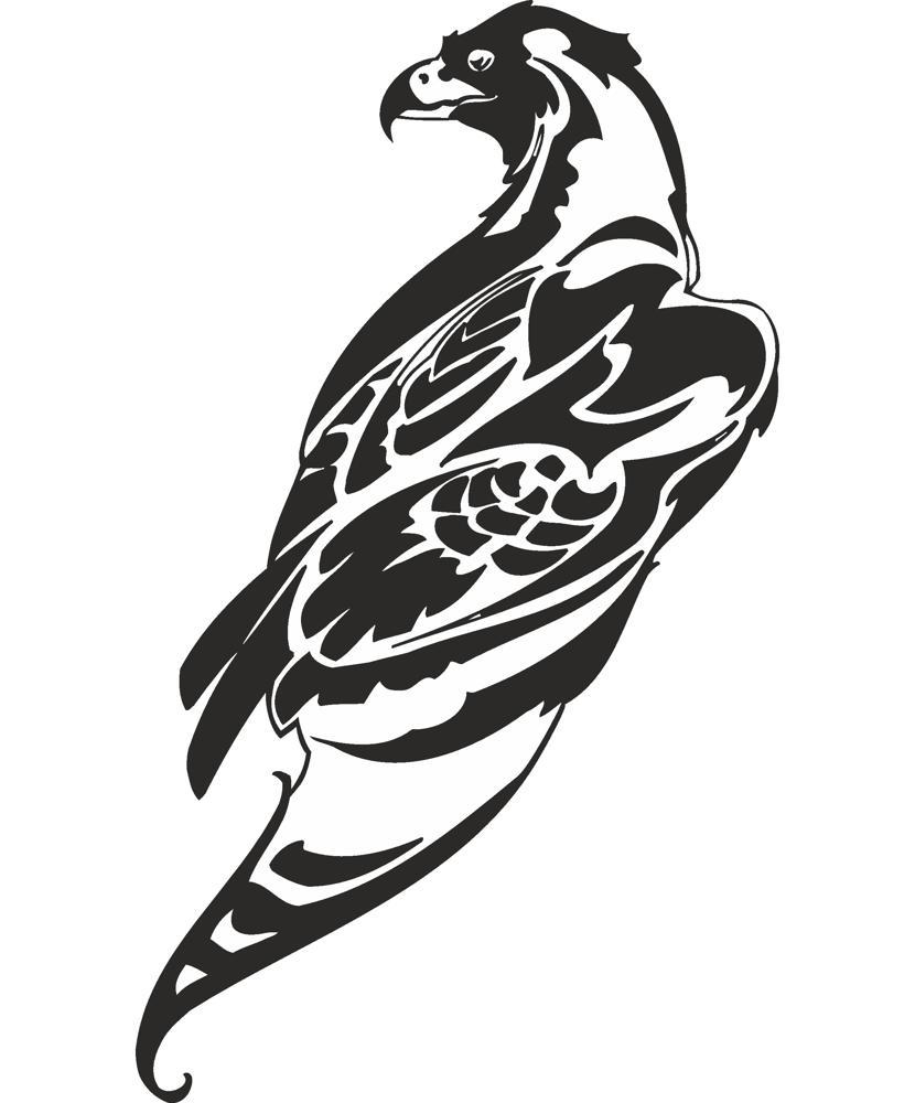 Hawk Silhouette Free CDR Vectors Art
