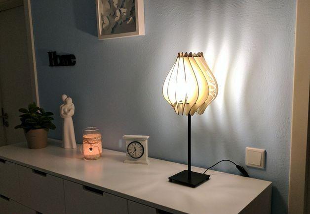 Laser Cut Table Lamp Free CDR Vectors Art