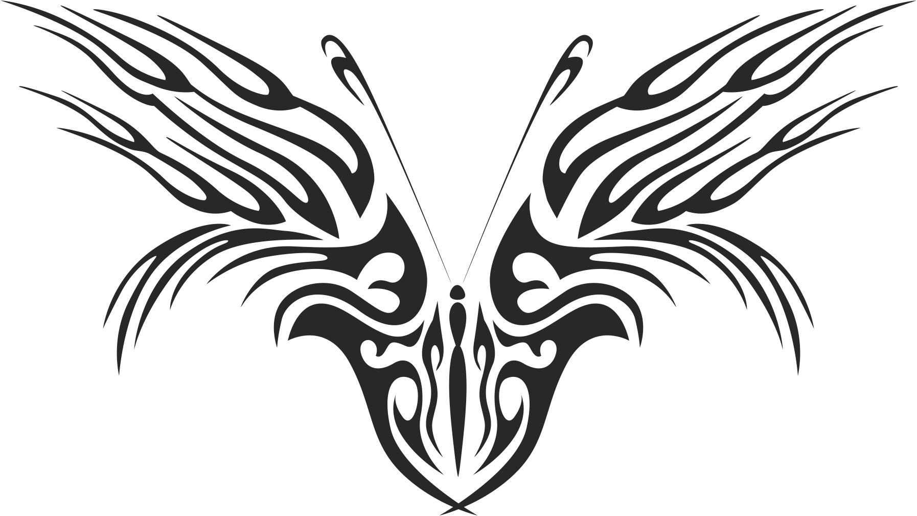 Tattoo Tribal Butterfly Free CDR Vectors Art