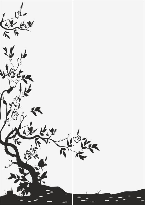 Tree Sandblast Pattern Design Free CDR Vectors Art