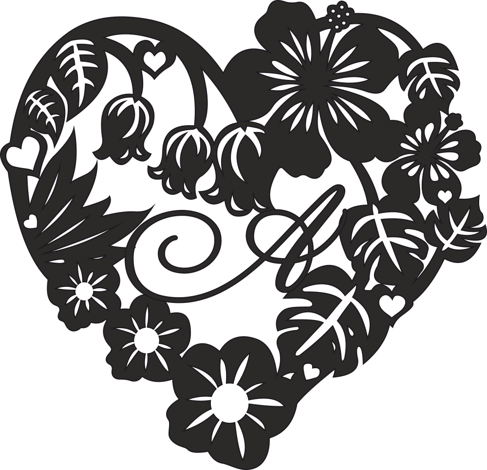 Valentine Rose Flower Heart Design Free CDR Vectors Art
