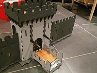 Castle Laser Cut Design Template Free CDR Vectors Art