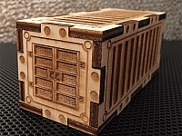 Container For Wargaming Laser Cut Design Template Free DXF File