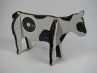 Laser Cut 3d Puzzle Cow Template Free DXF File