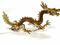 Laser Cut 3d Puzzle Golden Dragon Template Free DXF File