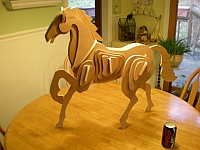 Laser Cut 3d Puzzle Horse Template Free DXF File