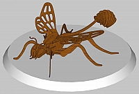 Laser Cut 3d Puzzle Mud Dauber Wasp Ex Template Free DXF File