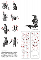 Laser Cut 3d Puzzle Pinguin Template Free DXF File