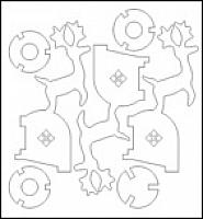 Laser Cut 3d Puzzle Tarea De Escuela Template Free DXF File