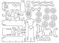 Laser Cut 3d Puzzle Train Template Free DXF File