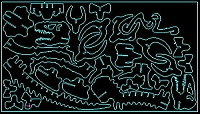 Laser Cut 3d Puzzle Tyrannosaurus Template Free DXF File