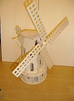 Laser Cut 3d Puzzle Windmill Template Free DXF File