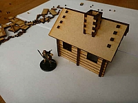Log Cabin For 28mm Tabletop Gaming Laser Cut Design Template Free DXF File