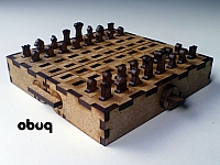 Portable Chess Set Laser Cut Design Template Free DXF File