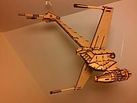 Star Wars b-wing Laser Cut Design Template Free DXF File