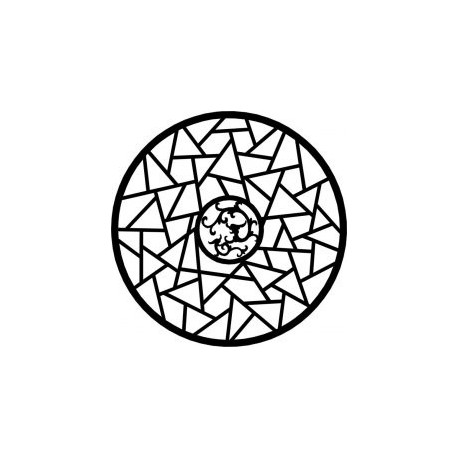 Circle Geometric Ornament Vector Free DXF File