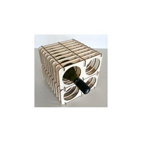 Flat Pack Wine Rack Free DXF File