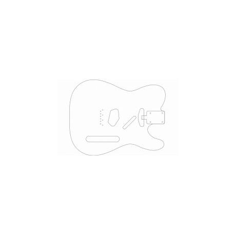 Gitar Outline Vector Free DXF File