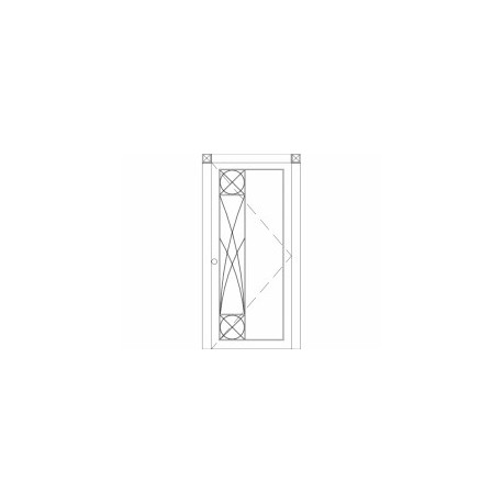 Gorgeous Modern Single Front Door Free DXF File