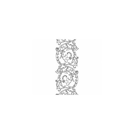 Hand Embroidery Pattern Scroll Design Free DXF File