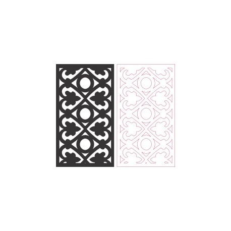 Partition Screen Carved Pattern Free DXF File