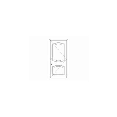 Solid Wood Door Free DXF File