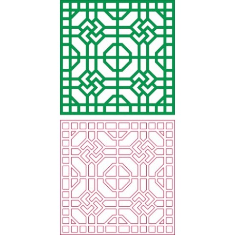 Square Design Pattern Free DXF File