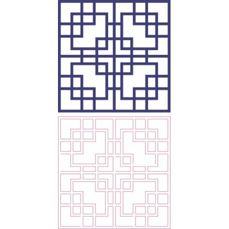Square Pattern Vector Art Free DXF File