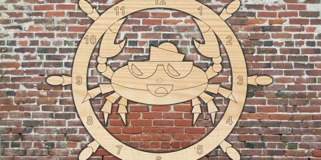 Captain Crab Cnc Cut Laser Free CDR Vectors Art