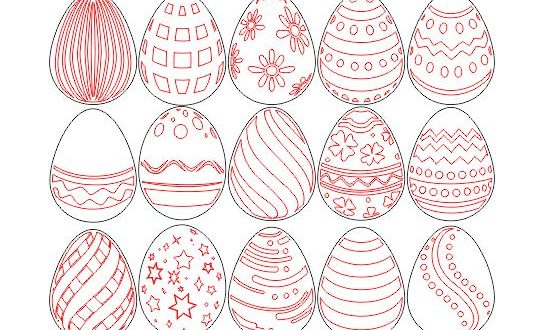 Easter Eggs Cutting And Laser Engraving Free CDR Vectors Art
